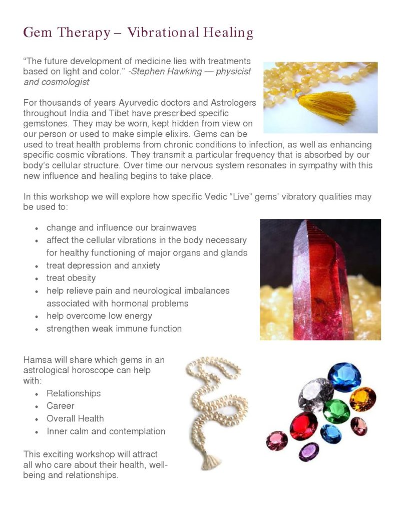 Gem Therapy – Vibrational Healing